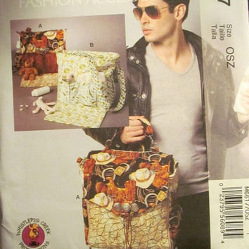 SALE Uncut McCall's Sewing Pattern, 6617! Fashion Accessories, Diaper Bags for Men or Women/Tote Bags/Back Pack/Strapped back