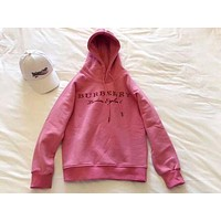 Burberry Popular Women Casual Embroidery Logo Pullover Top Hoodie Sweater I