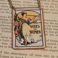 Votes For Women Necklace in Mixed Media