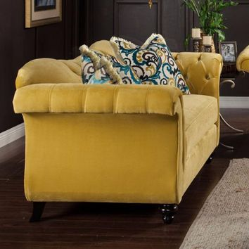 Stylish Royal Yellow Love Seat By Antoinette