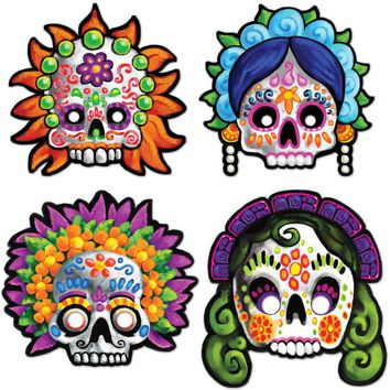 Day of the Dead Masks Case Pack 12
