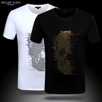Philipp Plein Men Fashion T-Shirt Top Tee
