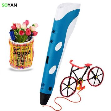 3d pen for drawing smart creative 3d pens for printing pens creativity arts and crafts 3D magic pen for Kids Design Painting