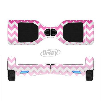 The Pink & White Ombre Chevron Pattern Full-Body Skin Set for the Smart Drifting SuperCharged iiRov HoverBoard