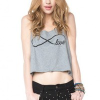 Brandy ♥ Melville |  Mirella Inifinity Love Tank - Graphic Tops - Clothing