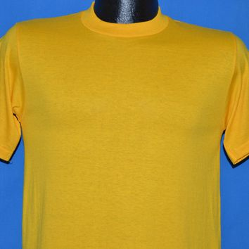 80s Yellow Blank JERZEES t-shirt Small