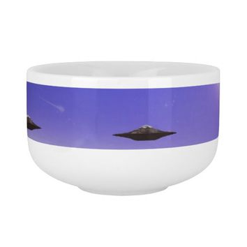 UFO alien galaxies space Soup Bowl With Handle