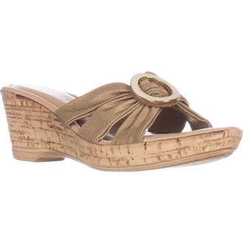 Tuscany Easy Street Conca Strappy Wedge Sandals - Natural