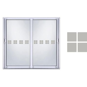Etched Glass Vinyl Decals Sliding Door Safety Stickers Shapes Squares