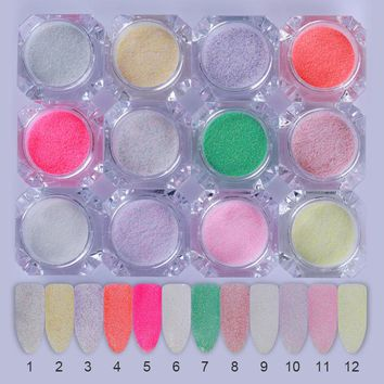 Holographic Sugar Glitter Sandy Powder Summer Candy Color Manicure Pigment Decorations