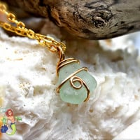 Sea Glass Necklace, aqua blue seaglass Hawaiian jewelry by Mermaid Tears