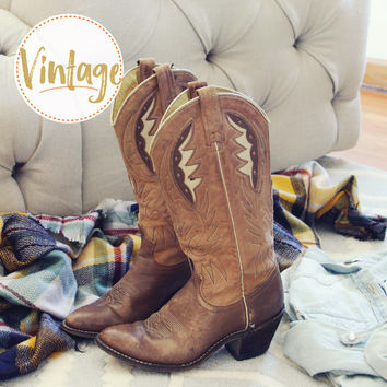 Vintage Autumn Stitch Boots