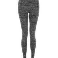 Grey Space Dye Seam Free Yoga Sports Leggings