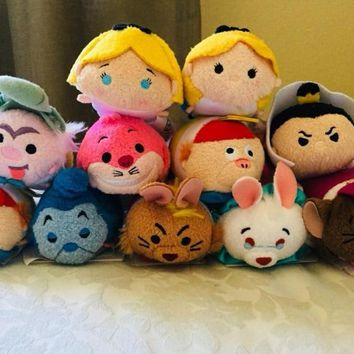 Tsum Tsum Mini Alice In Wonderland Plush Toy Cheshire Cat Mad Hatter March Hare White Rabbit Tweedle Dee
