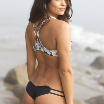 The Girl and The Water - Bettinis - Heart Bikini Bottom / Black Sand - $62