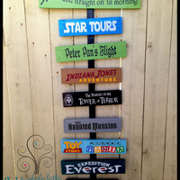 Display Your Favorite Memories of Disneyland or Disney World with this unique, personalized wooden sign! See your favorites every day!