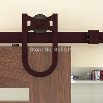 6.6Ft Horseshoe Style Sliding Barn Door Hardware