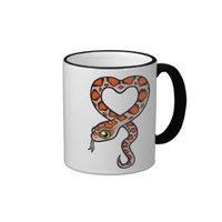Definitely a Snake Person (miami corn snake) Ringer Coffee Mug