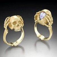 Memento Mori Tribute to a Genius by Kim Eric Lilot: Gold Stone Ring | Artful Home