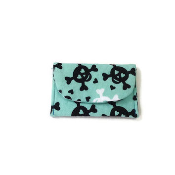 Love Crossed Skulls Mint Card Case