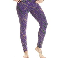 Leggings - Purple with Royal Blue and Jade
