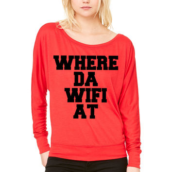 What an awesome mom looks like WOMEN'S FLOWY LONG SLEEVE OFF SHOULDER TEE