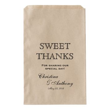 Sweet Thank You Wedding Favor Candy Bar Buffet Fav Favor Bag