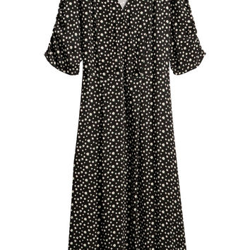 V-neck dress - Black/Patterned - Ladies | H&M GB