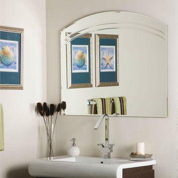Contemporary 31.5 x 39.5 Inch Curved Arch Bathroom Mirror