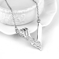 TV Vikings Season Silver Plated Pendant Chain Necklace For Men And Women Can