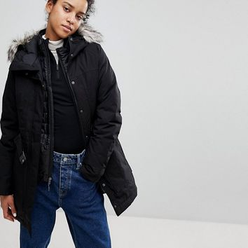The North Face Brooklin Parka In Black at asos.com
