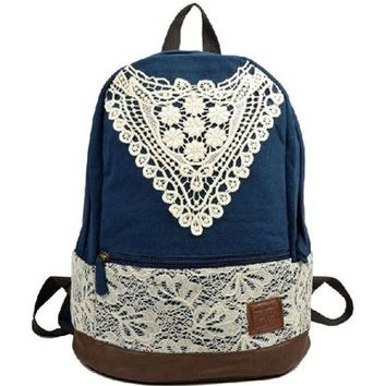 Canvas Rucksack Backpack Campus computer travel Schoolbag:Amazon:Sports & Outdoors