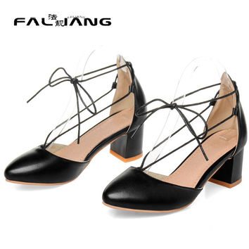 Women lolita low beige heels designer large size woman sandals girls sweet pumps ladies fashion rope sandals prom shoes C-16