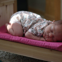 American Girl Doll or 18 Inch Dolls Farmhouse Bed includes mattress, great Newborn Photography Prop
