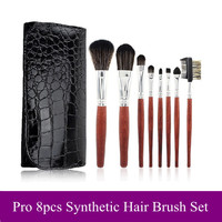 8Pcs Luxury Makeup Brush Sets Black Brush [9647074639]