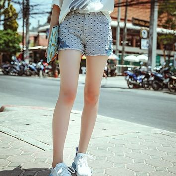Women's Close-Fitting Denim Shorts