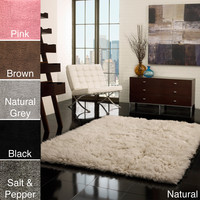 nuLOOM Hand-woven Flokati Wool Shag Rug (3' x 5') | Overstock.com Shopping - The Best Deals on 3x5 - 4x6 Rugs
