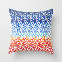 Colorful Throw Pillow - Venice Beach Funfetti Sunset,