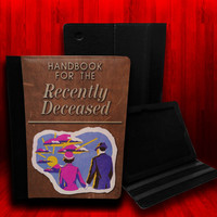 Beetlejuice Handbook For The Recently Deceased Leather Case For iPad 2, iPad 3 and iPad 4