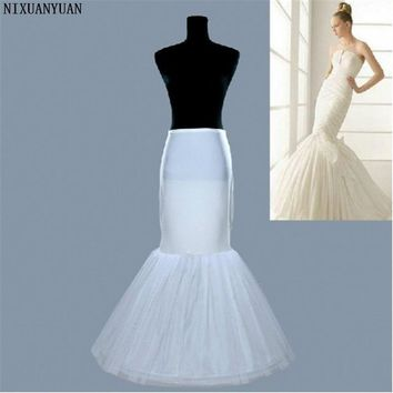 NIXUANYUAN New 2017 Cheap Free Shipping 100% High Quality White Tulle Mermaid Hot Selling Wedding Petticoat For Wedding Dress