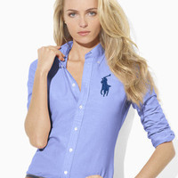 Solid Skinny Big Pony Oxford - Long-Sleeve   Shirts - RalphLauren.com