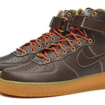 DCCKBE6 Nike Air Force 1 315121-203 Brown For Women Men Running Sport Casual Shoes Sneakers