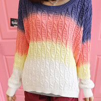 Gradient pullover knitted BABHDJ