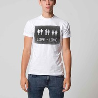 LOVE = LOVE Gay Rights Political t-shirt