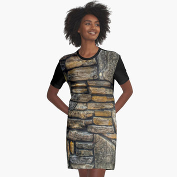 "'""rock wall 02"" iPhoneography' Graphic T-Shirt Dress by BillOwenArt"