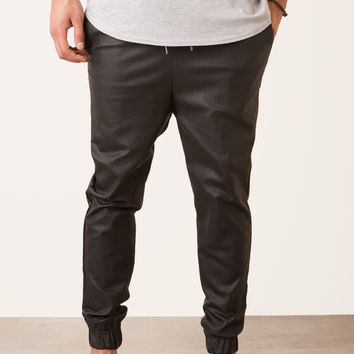 Faux Leather Jogger Pant