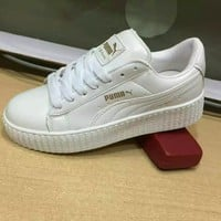 """PUMA"" All-match Male Female Fashion Couple Small White Shoes Plate Shoes Single Shoes Casual Shoes"