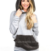 Fleece Grey Pocket Hoody