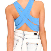 Come Back Crop Top - Blue