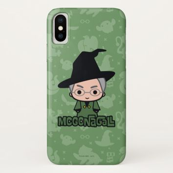 Professor McGonagall Cartoon Character Art iPhone X Case